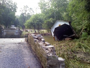 Demise of Siegrist's Mill Covered Bridge